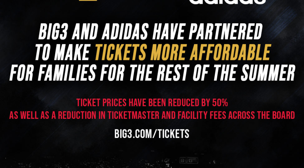 taille 40 ec104 6eaa0 BIG3 AND ADIDAS TEAM UP TO BRING FANS AFFORDABLE FAMILY ...